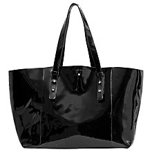 Buy Gérard Darel Hudson Patent Leather Shopper Bag, Black Online at johnlewis.com