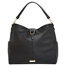 Buy Mango Pebbled Hobo Bag, Black Online at johnlewis.com