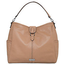 Buy Mango Pebbled Hobo Bag, Medium Brown Online at johnlewis.com