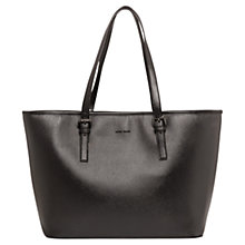 Buy Mango Saffiano Effect Shopper Bag, Black Online at johnlewis.com