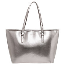 Buy Mango Saffiano Effect Shopper, Light Pastel Grey Online at johnlewis.com