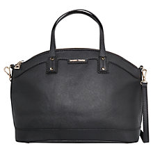 Buy Mango Saffiano-Effect Tote Bag, Black Online at johnlewis.com