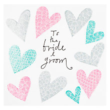 Buy Rachel Ellen To The Bride & Groom Hearts Wedding Card Online at johnlewis.com