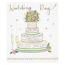 Buy Rachel Ellen Cake and Champagne Wedding Card Online at johnlewis.com