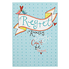 Buy Rachel Ellen Birds Wedding Regret Card Online at johnlewis.com
