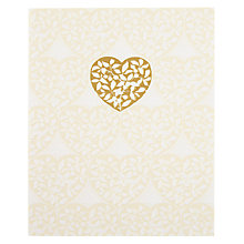 Buy Paper Rose Bird Furnishing Fabric Wedding Card Online at johnlewis.com