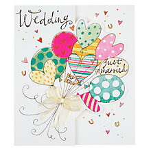 Buy Rachel Ellen Balloons Wedding Card Online at johnlewis.com