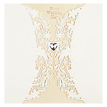 Buy Paper Rose Wedding Card Online at johnlewis.com