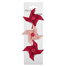 Buy John Lewis Pink Windmill Gift Bows, Pack of 3 Online at johnlewis.com