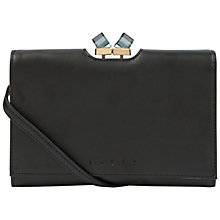 Buy Ted Baker Junlia Square Cross Body Leather Purse, Black Online at johnlewis.com