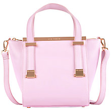 Buy Ted Baker Barbies Metal Bar Leather Shopper Bag Online at johnlewis.com
