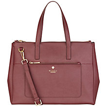 Buy Modalu Phoebe Large Leather Grab Bag, Claret Online at johnlewis.com