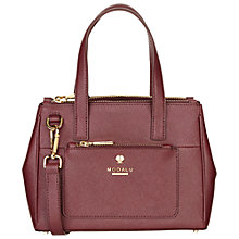 Buy Modalu Phoebe Mini Leather Grab Bag, Claret Online at johnlewis.com