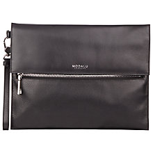 Buy Modalu Erin Leather Clutch Bag, Black Online at johnlewis.com