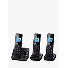 Buy Panasonic KX-TGH220EB Digital Telephone and Answering Machine with Nuisance Call Control, Trio DECT Online at johnlewis.com