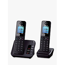 Buy Panasonic KX-TGH222EB Digital Telephone and Answering Machine with Nuisance Call Control, Twin DECT Online at johnlewis.com