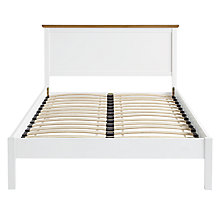 Buy John Lewis Darton Bedstead, Soft White / Oak, Kingsize Online at johnlewis.com