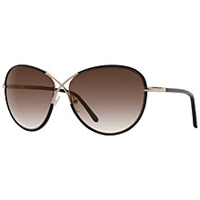 Buy TOM FORD FT0344 Rosie Oval Sunglasses, Gold Online at johnlewis.com