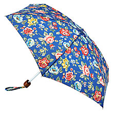Buy Cath Kidson Tiny Rainbow Rose Umbrella, True Blue Online at johnlewis.com