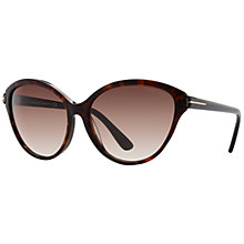 Buy TOM FORD FT0342 Priscila Square Framed Sunglasses Online at johnlewis.com