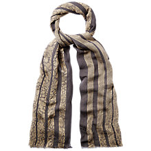 Buy Jaeger Snake Print Devore Scarf, Gold Online at johnlewis.com