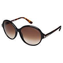 Buy TOM FORD FT0343 Milena Square Women's Sunglasses, Black Online at johnlewis.com
