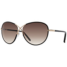 Buy TOM FORD FT0344 Rosie Oval Sunglasses, Black Online at johnlewis.com