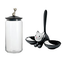Buy Alessi Tigrito Cat Bowl with 50% off Mio Food Jar Online at johnlewis.com