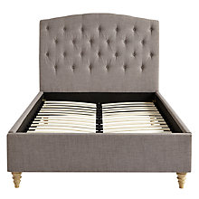 Buy John Lewis Rouen Fabric Covered Bedstead, Grey, Double Online at johnlewis.com