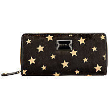 Buy Modula Pippa Large Zip Around Purse, Black Online at johnlewis.com