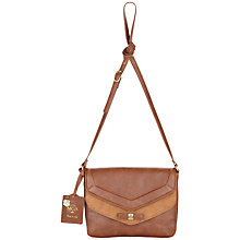Buy Nica Sophie Flap Across Body Bag, Brown Online at johnlewis.com