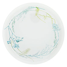 Buy John Lewis Croft Collection Melamine Floral Dinner Plate, White Online at johnlewis.com