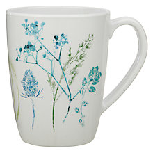 Buy John Lewis Croft Collection Floral Melamine Mug, White Online at johnlewis.com
