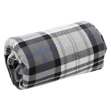 Buy John Lewis Grey Check Fleece Picnic Rug Online at johnlewis.com