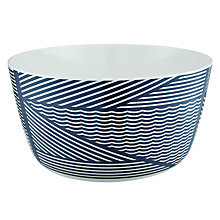 Buy House by John Lewis Explore Melamine Salad Bowl, Navy Online at johnlewis.com