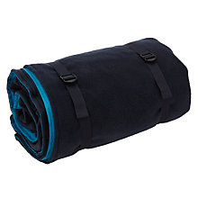 Buy John Lewis Roll-Up Fleece Picnic Rug, Navy Online at johnlewis.com