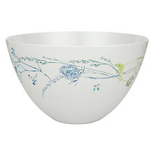 Buy John Lewis Croft Collection Melamine Floral Salad Bowl, White Online at johnlewis.com