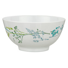Buy John Lewis Croft Collection Melamine Floral Bowl, White Online at johnlewis.com