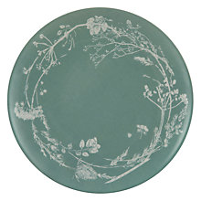 Buy John Lewis Croft Collection Melamine Floral Side Plate, Green Online at johnlewis.com