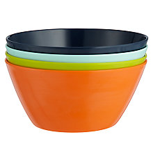 Buy House by John Lewis Plain Bowls, Set of 4 Online at johnlewis.com