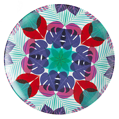 Summer Palm Floral Side Plate