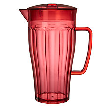 Buy John Lewis Summer Palm Soda Pitcher, Red Online at johnlewis.com