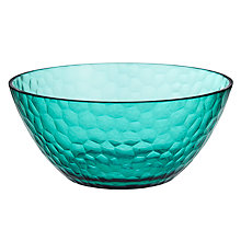 Buy John Lewis Summer Palm Pebbles Picnic Bowl, Aqua Online at johnlewis.com