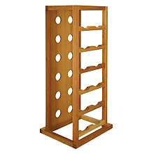 Buy John Lewis Oak Tower Wine Rack, 12 Bottle Online at johnlewis.com