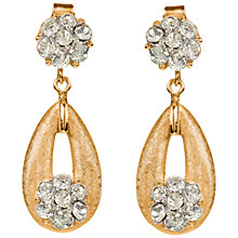 Buy Susan Caplan Vintage 1960s Trifari Gold Plated Swarovski Crystal Clip-On Earrings, Gold Online at johnlewis.com