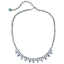 Buy Susan Caplan Vintage 1960s Sherman Silver Plated Swarovski Crystal Necklace, Silver Online at johnlewis.com