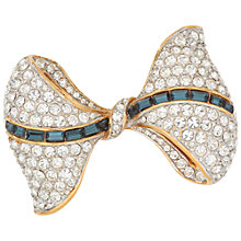 Buy Susan Caplan Vintage Atwood & Sawyer Gold Plated Swarovski Crystal and Faux Saphire Baguette Bow Brooch Online at johnlewis.com