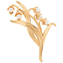 Buy Susan Caplan Vintage Givenchy Gold Plated Lily of the Valley Brooch Online at johnlewis.com