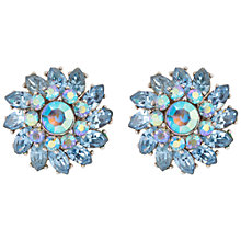 Buy Susan Caplan Vintage 1940s Trifari  Silver Plated Swarovski Crystal Clip-On Earrings, Blue Online at johnlewis.com