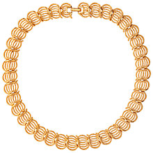 Buy Susan Caplan Vintage 1970s Napier Gold Plated Filigree Necklace, Gold Online at johnlewis.com